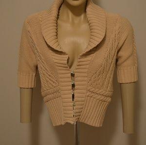 Free People Crop Knit Cardigan